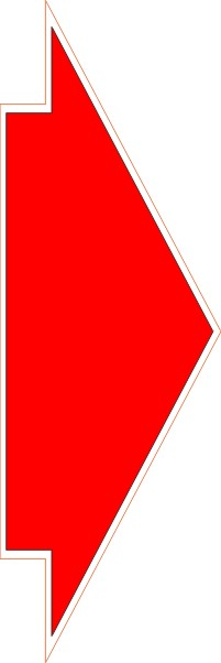 Arrows Stick on: Arrow Red 300 X 100MM - Left or Right